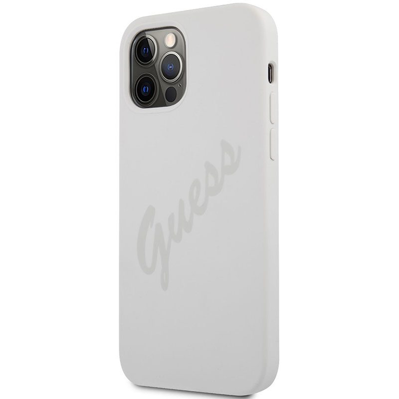 Guess Silicone Vintage Cream iPhone 12/12 Pro Tok