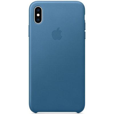 Apple Leather Cape Cod Blue iPhone XS Max Tok