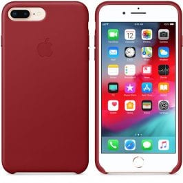 Apple Leather Red iPhone 7 Plus/8 Plus Tok