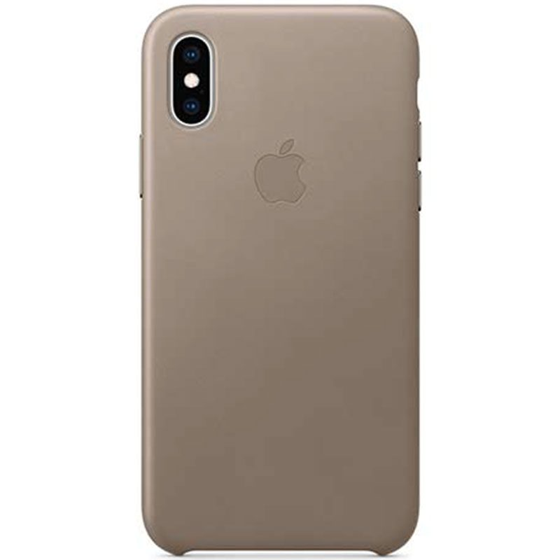 Apple Leather Taupe iPhone XS Tok