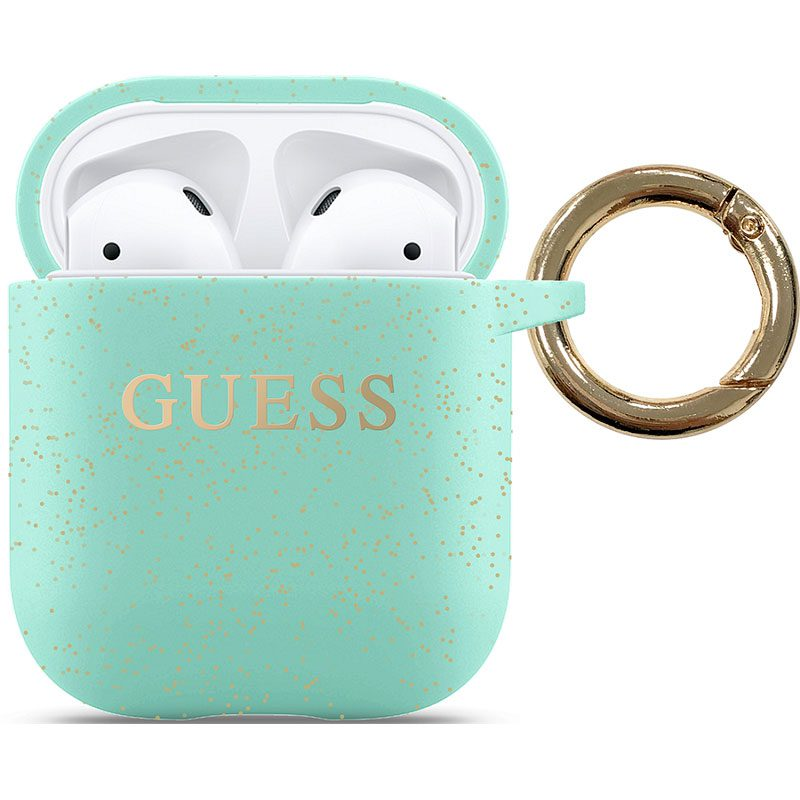 Guess AirPods Silicone Case Green