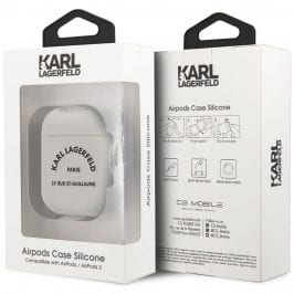 Karl Lagerfeld Rue St Guillaume AirPods Silicone Case White