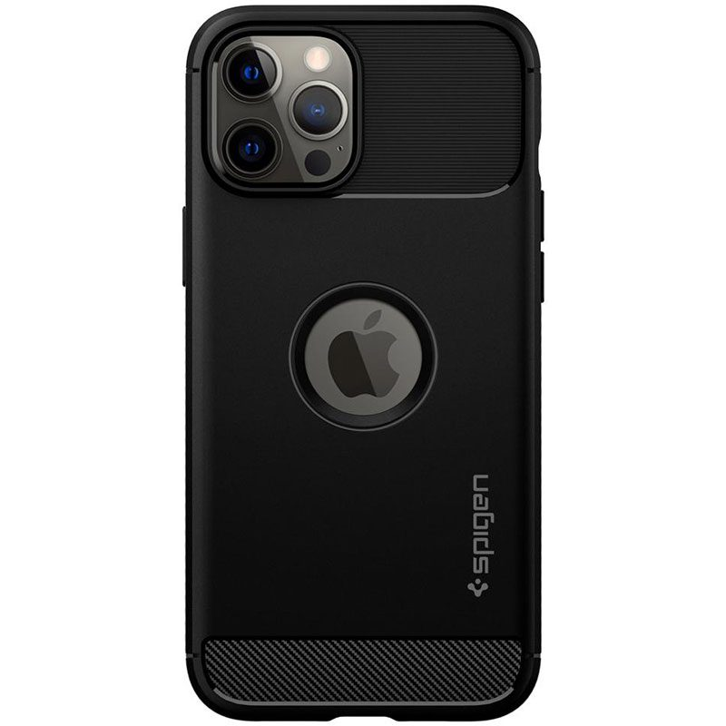 Spigen Rugged Armor Matte Black iPhone 12 Pro Max Tok