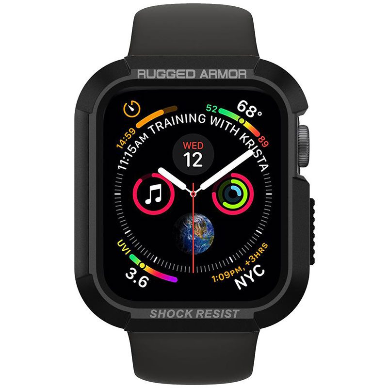 Spigen Rugged Armor Matte Black Tok Apple Watch 40mm