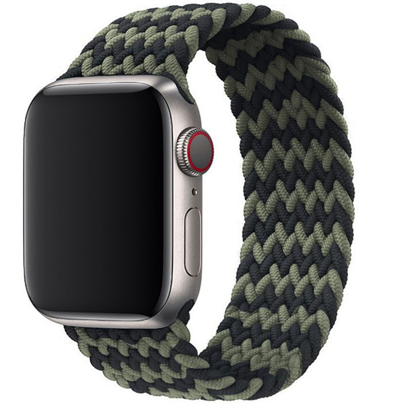 Braided Szíj Apple Watch 38/40mm Black Green