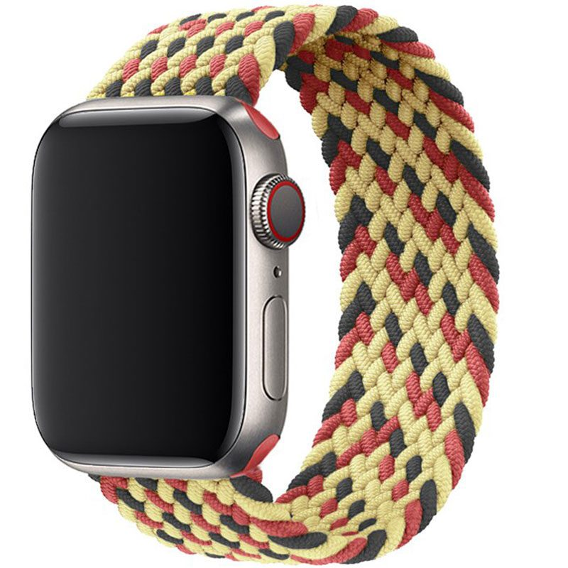 Braided Szíj Apple Watch 38/40mm Black Red Gold