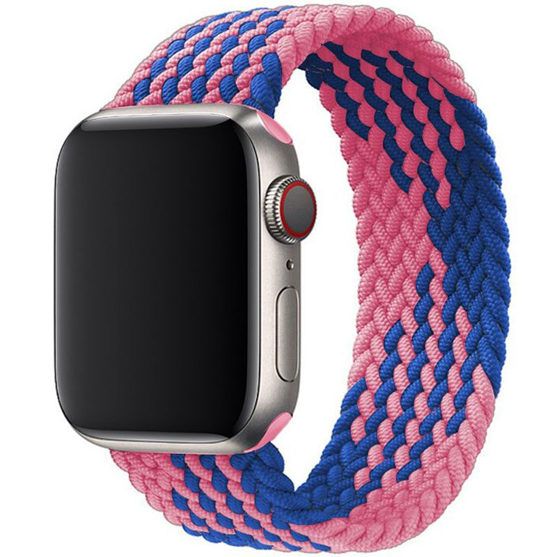 Braided Szíj Apple Watch 38/40mm Blue Pink