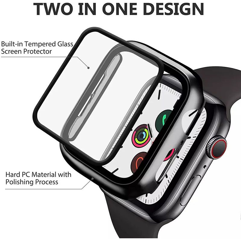 Protective Glass Tok for Apple Watch Bright Silver