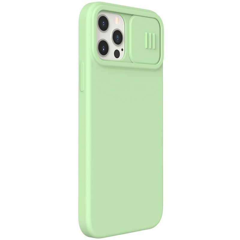 Nillkin CamShield Silky Magnetic Silicone Matcha Green iPhone 12/12 Pro Tok
