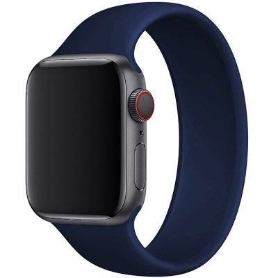 Silicone Solo Loop Szíj Apple Watch 42/44mm Blue