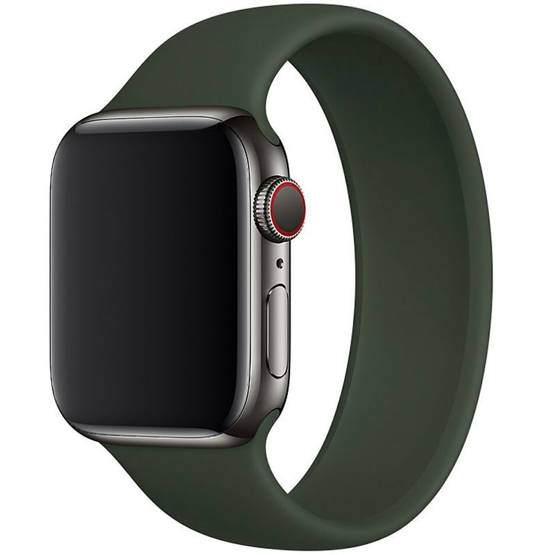 Silicone Solo Loop Szíj Apple Watch 42/44mm Cyprus Green