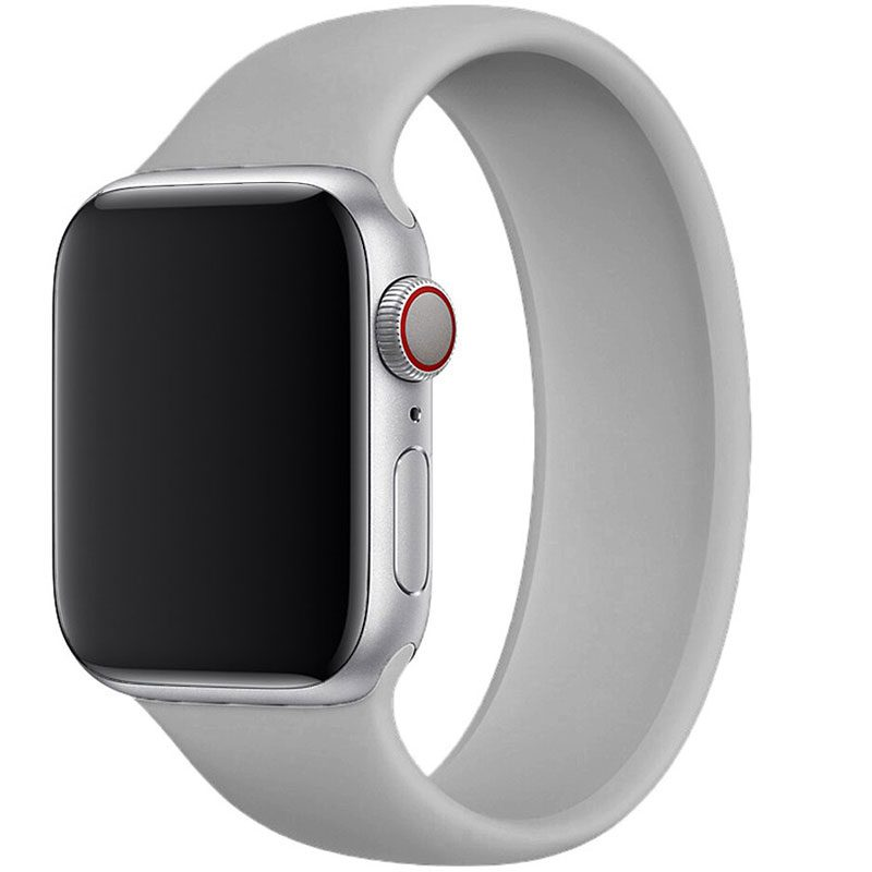 Silicone Solo Loop Szíj Apple Watch 42/44mm Gray