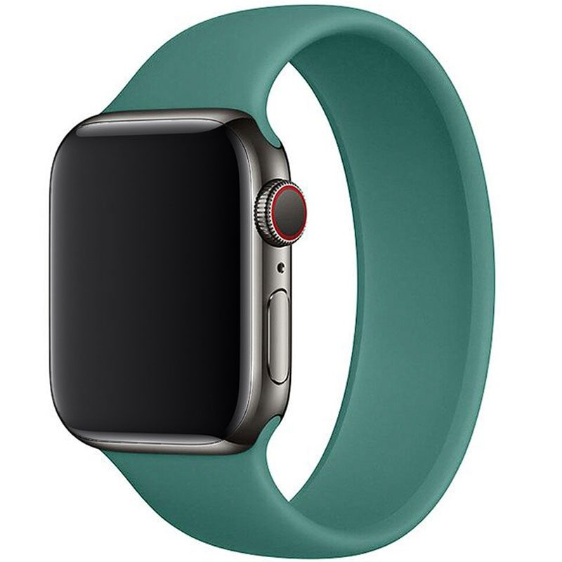 Silicone Solo Loop Szíj Apple Watch 42/44mm Pine Green