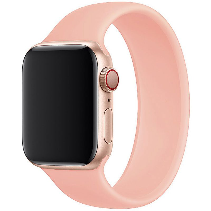 Silicone Solo Loop Szíj Apple Watch 42/44mm Pink Sand