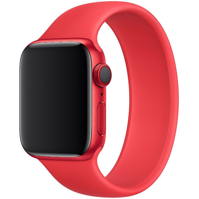 Silicone Solo Loop Szíj Apple Watch 42/44mm Red