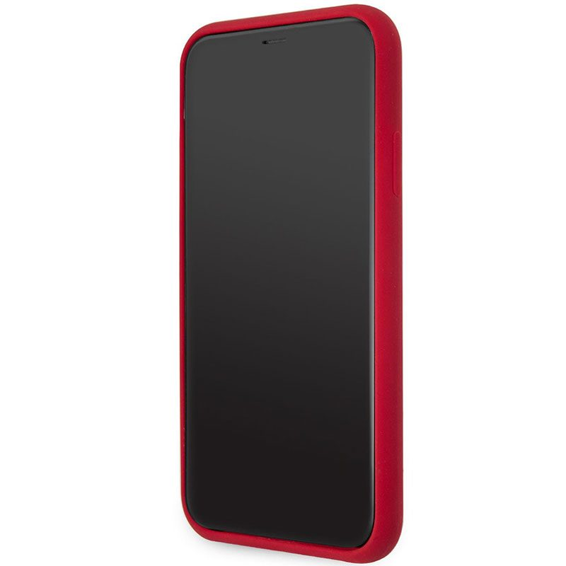 Karl Lagerfeld Stack Black Logo Silicone Red iPhone 11 Tok