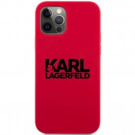Karl Lagerfeld Stack Black Logo Silicone Red iPhone 12 Pro Max Tok