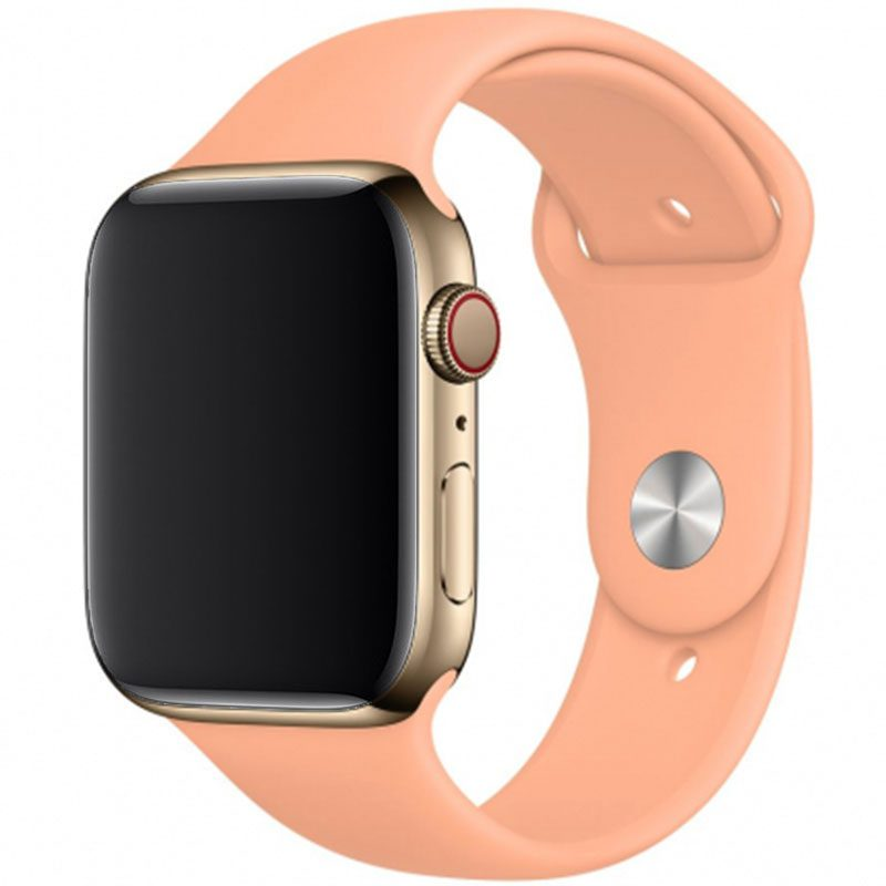 Silicone Szíj Apple Watch 42/44mm Cantaloupe Large