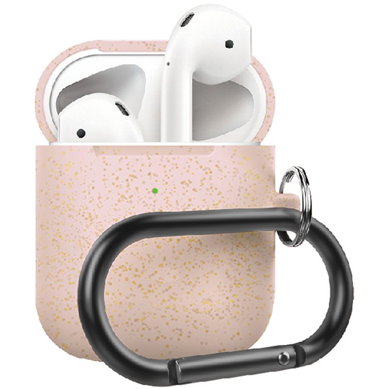 Silicone Protective Tok For Airpods Rose Gold Pearl