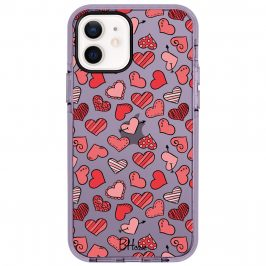 Hearts Red iPhone 12/12 Pro Tok
