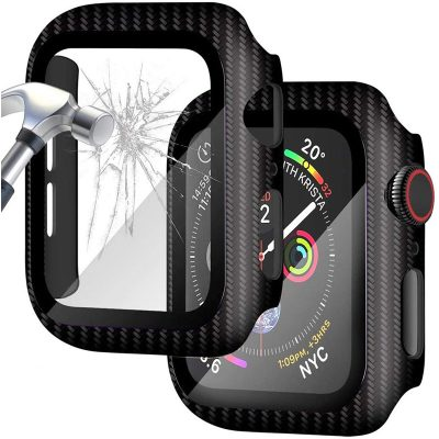 Protective Glass Tok for Apple Watch Carbon Clear