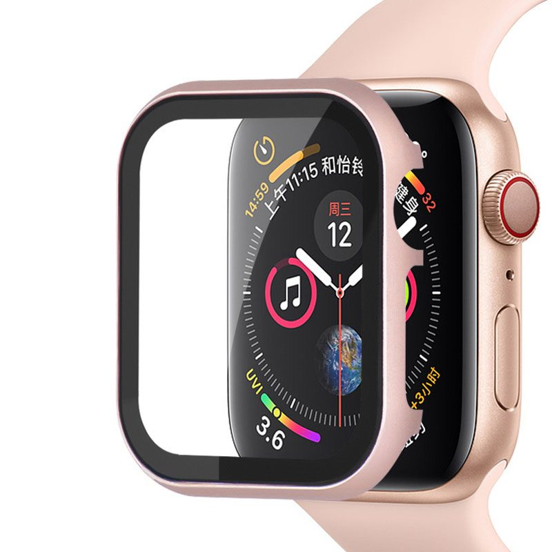 Protective Glass Metalish Tok for Apple Watch Rose Pink