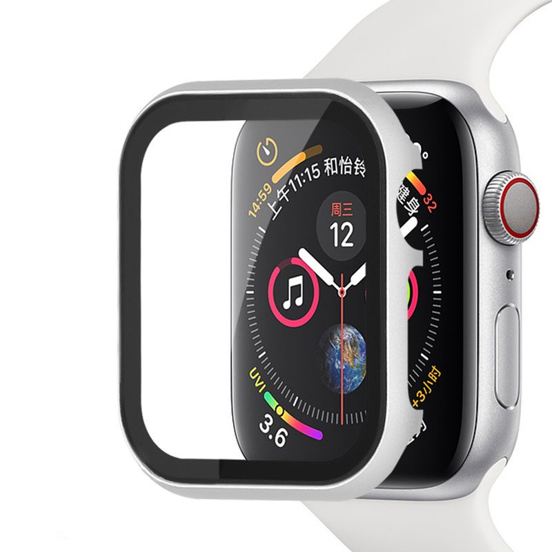 Protective Glass Metalish Tok for Apple Watch Silver