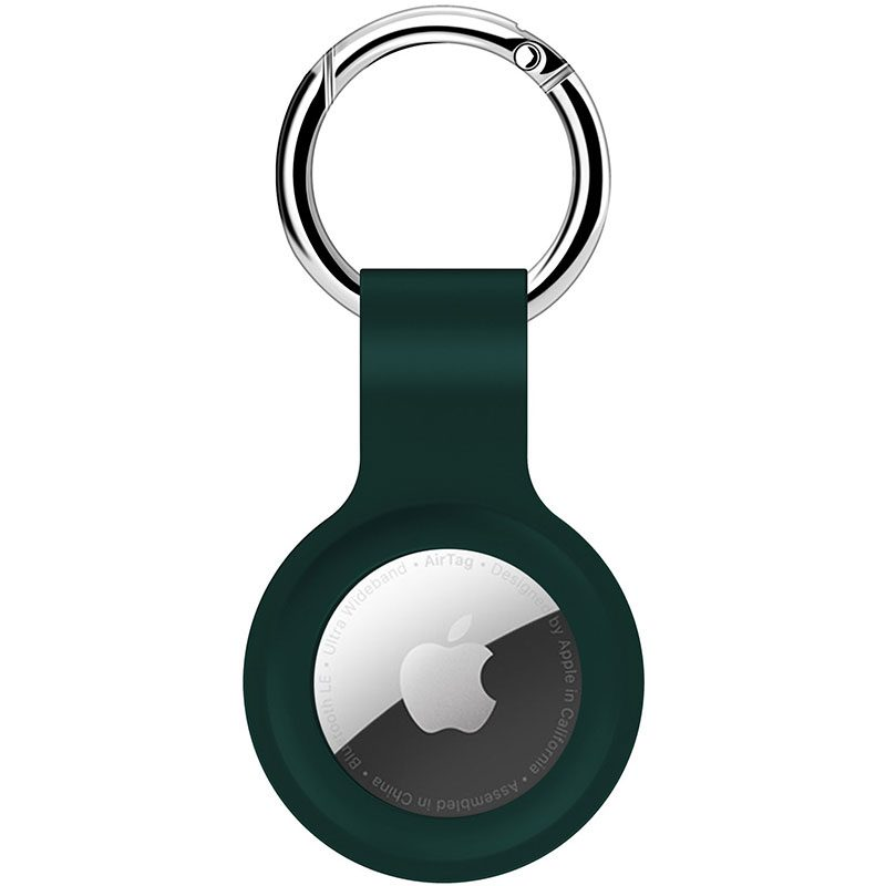 Silicone Key Ring Case for AirTag Green