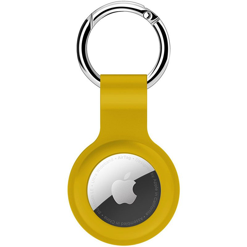Silicone Key Ring Case for AirTag Yellow