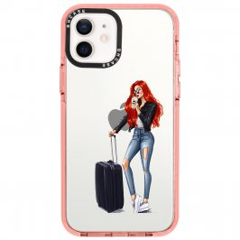 Woman Redhead With Baggage iPhone 12/12 Pro Tok