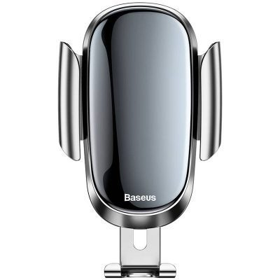 Baseus Future Gravity Car Mount Holder Silver - For Round Air Outlet