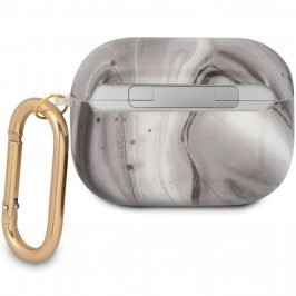 Guess Shiny Marble AirPods Pro TPU Case Black