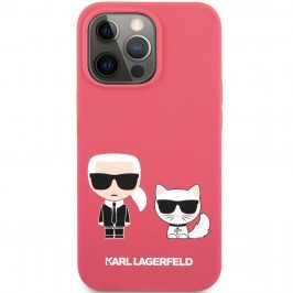 Karl Lagerfeld and Choupette Liquid Silicone Red iPhone 13 Pro Tok
