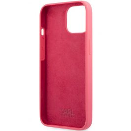 Karl Lagerfeld and Choupette Liquid Silicone Red iPhone 13 Mini Tok