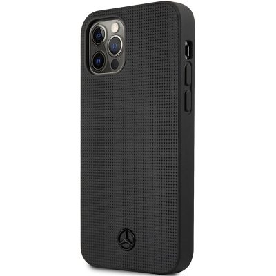 Mercedes Leather Meshed Effect Black iPhone 12/12 Pro Tok