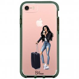 Woman Black Haired With Baggage iPhone 8/7/SE 2 2020 Tok