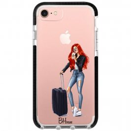 Woman Redhead With Baggage iPhone 8/7/SE 2 2020 Tok