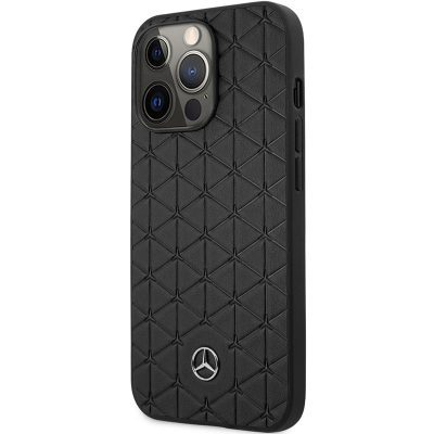 Mercedes Genuine Leather Quilted Black iPhone 13 Pro Tok