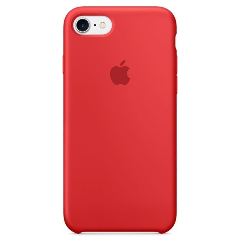 Apple Red Silicone Coque iPhone 8/7/SE 2 2020