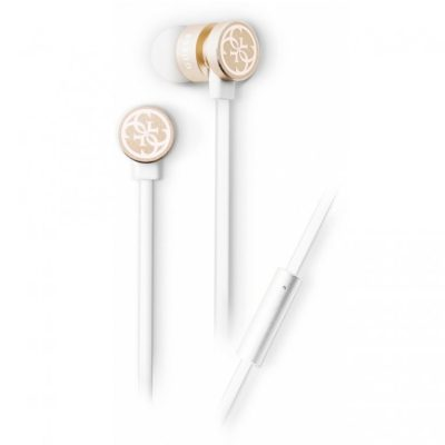 Guess Wired Stereo Headset White/Gold