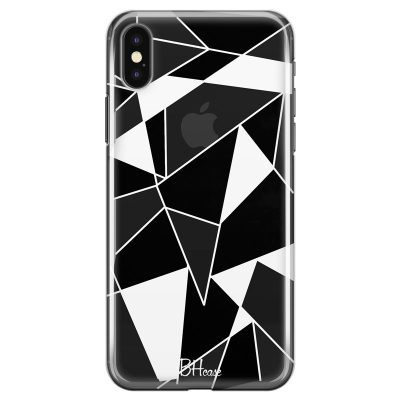 Black White Geometric Coque iPhone XS Max