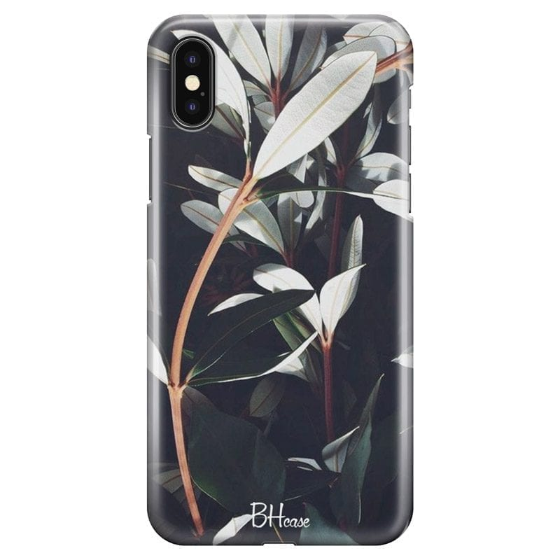 Dark Leaves Coque iPhone XS Max