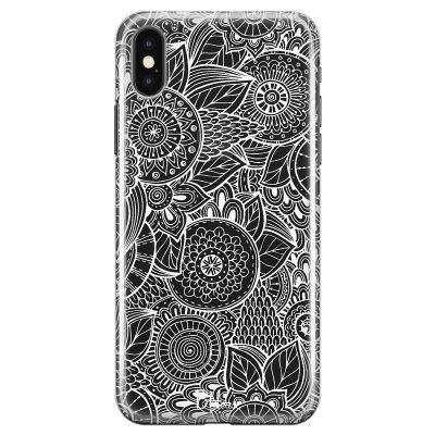 Flower Pattern Coque iPhone X/XS