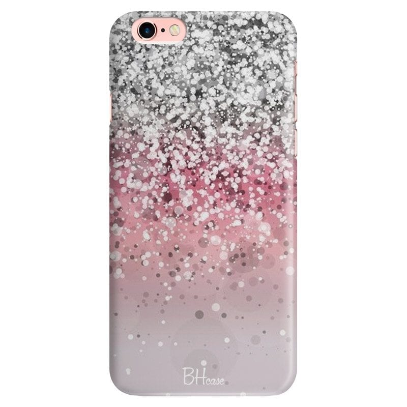 Glitter Pink Silver Coque iPhone 6/6S