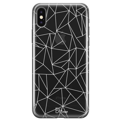 Lines White Net Coque iPhone X/XS