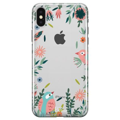 Nature Birds Coque iPhone X/XS