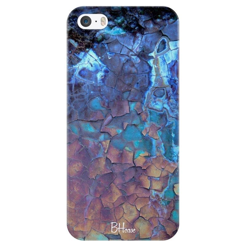 Stone Cracked Blue Coque iPhone SE/5S