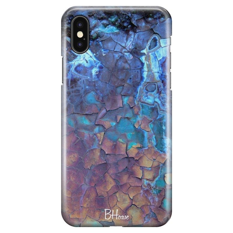 Stone Cracked Blue Coque iPhone XS Max