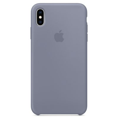 Apple Lavender Gray Silicone Coque iPhone XS Max