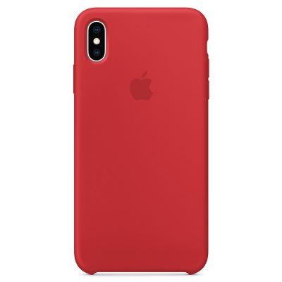 Apple Product Red Silicone Coque iPhone XS Max
